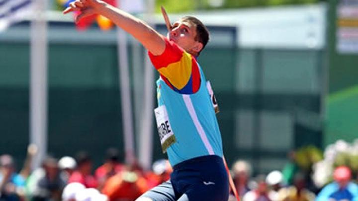 Андриан Мардаре завоевал золотую медаль в метании копья