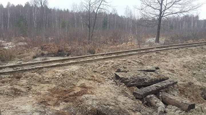 Добытчики янтаря размыли 300 метров железной дороги на западе Украины