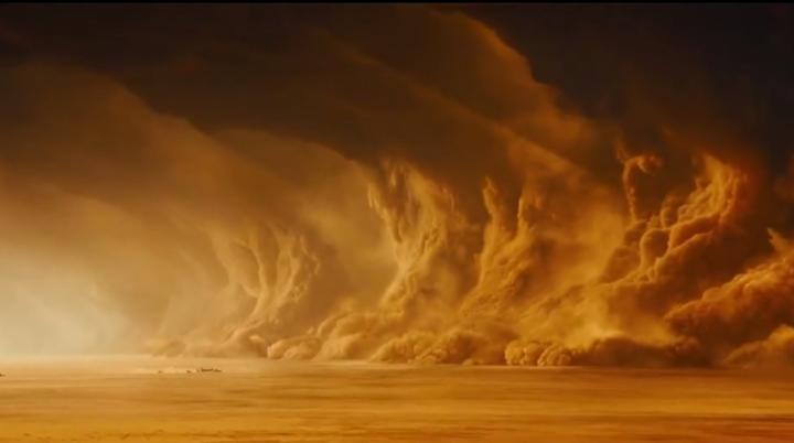 Буря площадью с Америку появилась на Марсе
