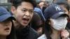 Китайцы устроили в Париже очередную акцию протеста