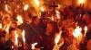 Появилось видео схождения благодатного огня в Иерусалиме