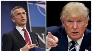 Президент США Дональд Трамп и генсек НАТО Йенс Столтенберг договорились сотрудничать
