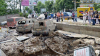 Опубликовано видео прорыва трубы на улице в Киеве