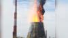 Удивительный пожар на ТЭЦ попал на видео