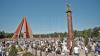 Стронники ПКРМ во главе с Владимиром Ворониным прошли маршем к мемориалу