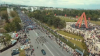 Съемка с дрона: 25 тысяч человек прошли по городу в праздничном марше ДПМ