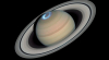 Загадочный шестиугольник Сатурна показали в цвете
