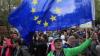 Три тысячи сторонников незыблемости политики ЕС провели акцию протеста в Будапеште