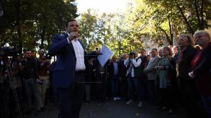 Андрея Нэстасе освистали на встрече с жителями села Климэуцы Дондюшанского района