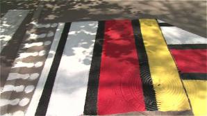 В Сороках пешеходные переходы оформляют в виде национальных ковров