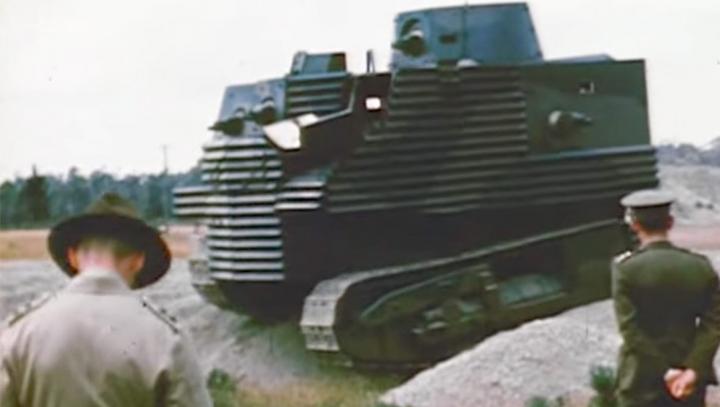 Найден самый уродливый в мире танк