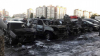 Несколько автомобилей сгорели на частной стоянке ночью в Киеве
