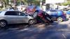 На перекрестке улиц Белинского и Крянгэ столкнулись сразу три автомобиля