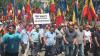 У здания парламента протестуют против изменения избирательной системы