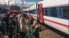 В Москве скоростной поезд задел электричку возле Курского вокзала