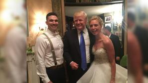 Дональд Трамп случайно оказался на свадебной церемонии в Нью-Джерси