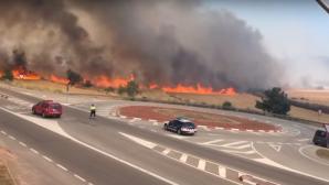 Под Барселоной из-за пожара эвакуировали около ста жителей