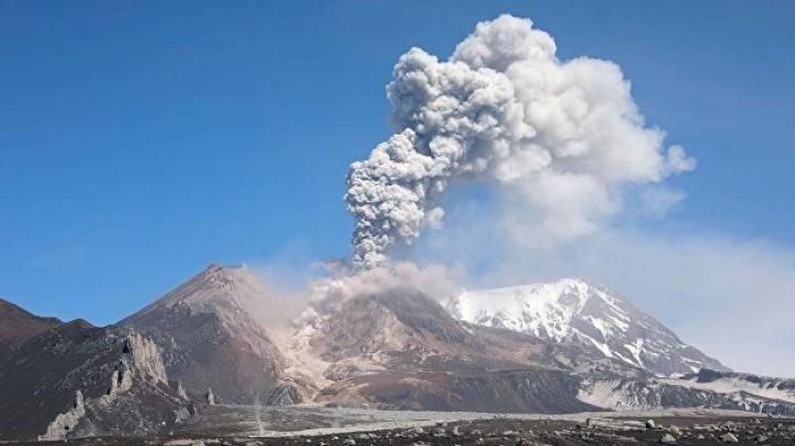 Вулкан Шивелуч на Камчатке выбросил столб пепла на семь километров