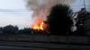 Мощный пожар пылает на Республиканском стадионе: видео
