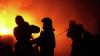 В Киевской области горит склад древесины