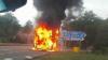 В Болгарии загорелся автобус с туристами