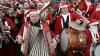 160 Санта-Клаусов из 15 стран приняли участие в параде, который прошел в Копенгагене