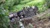 На Украине автобус с туристами упал с обрыва, погиб человек
