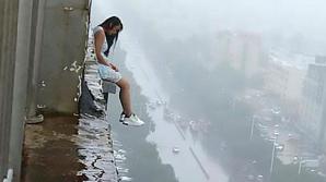 Девушка выжила после прыжка с 18-ого этажа: видео