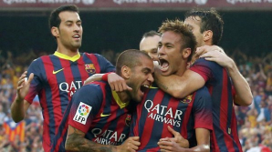 Три тысячи болельщиков «Барселоны» выложили гигантскую майку команды в Нью-Йорке