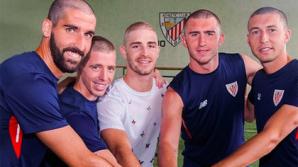 Игроки испанского «Атлетика» побрились налысо ради болеющего раком одноклубника