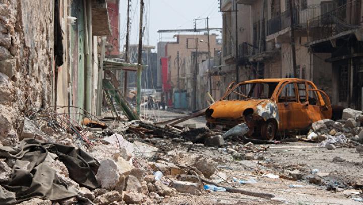 Появилось видео из практически уничтоженных кварталов Мосула