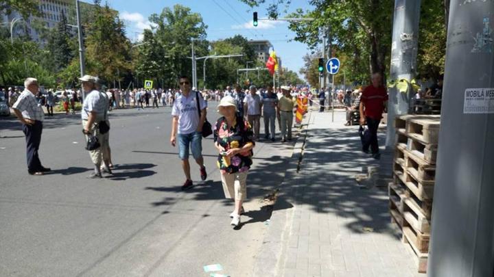На акцию протеста против смешанной системы выборов вышли около 800 человек