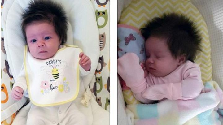 Роскошная шевелюра новорождённой девочки сделала её звездой Reddit