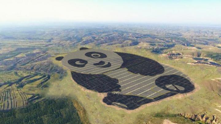 В Китае заработала солнечная электростанция в форме панды