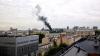 В центре Москвы горит ангар
