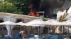 В Одессе массово горят пляжные кафе и рестораны