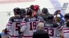 Появилось видео массовой драки российских и канадских хоккеистов в Сочи