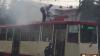 В центре Челябинска загорелся трамвай с пассажирами