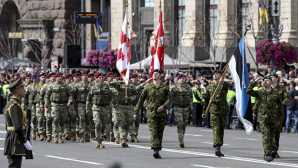 В Киеве прошел военный парад, приуроченный ко Дню независимости