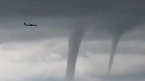 Посадка пассажирского лайнера на фоне бушующего смерча в Сочи попала на видео