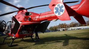 Пострадавшего в ДТП подростка доставили на вертолёте SMURD из Единец в Кишинёв