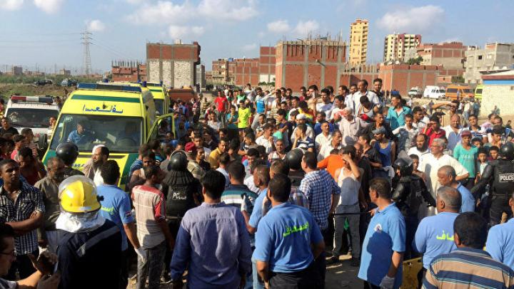 Египетский чиновник умер, увидев жертв столкновения двух поездов