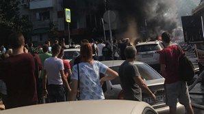 МЧС: Около 100 человек эвакуированы в связи с пожаром в центре Ростова