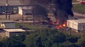 На химическом заводе близ Хьюстона вспыхнул крупный пожар: видео