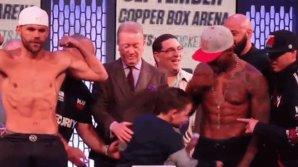 Сын боксёра нанёс его оппоненту запрещённый удар: видео