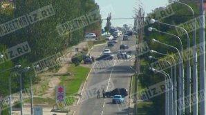 Появилось первое видео с места взрыва в Донецке