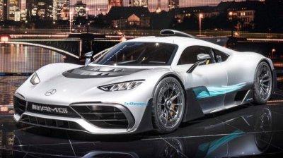 """Компания """"Мерседес"""" представила новый гиперкар - гоночный автомобиль"""