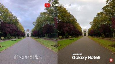 Apple iPhone 8 Plus и Samsung Galaxy Note8 сошлись в битве камер