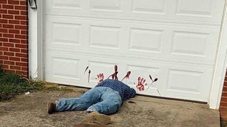 В США декорации для Хэллоуина спутали с реальным убийством