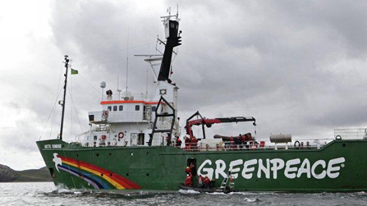 В Британии активисты Greenpeace блокировали судно с машинами Volkswagen